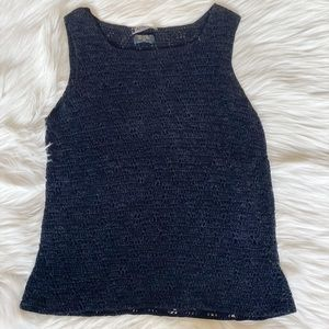 Harolds Crochet Black Tank